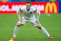 Wayne Rooney of England warms up