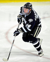 6 December 2009: University of New Hampshire Wildcats' defenseman Matt Campanale, a Junior from Chester Springs, PA, in action against the University of Vermont Catamounts at Gutterson Fieldhouse in Burlington, Vermont. The Wildcats defeated the Catamounts 5-2 in the Hockey East matchup. Mandatory Credit: Ed Wolfstein Photo