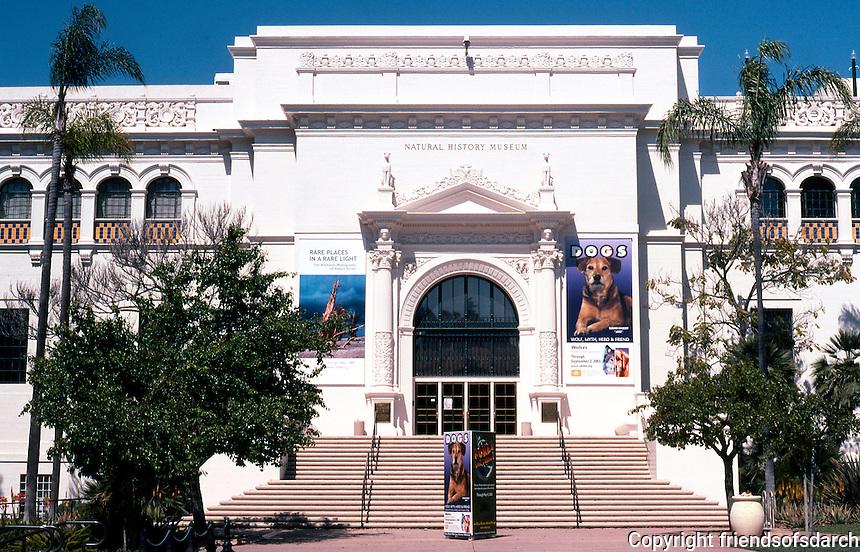 San Diego: Balboa Park, Natural History Museum, 1933. Architect William Templeton Johnson.