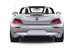 Straight rear view of a 2014 BMW Z4 sDrive35i Lounge 2 Door Convertible 2WD Rear View  stock images