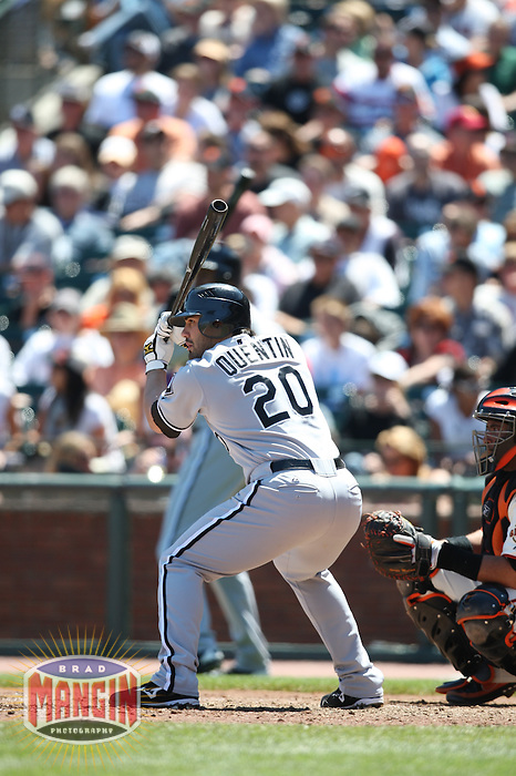 SAN FRANCISCO - MAY 18:  Carlos Quentin of the Chicago White Sox bats during the game against the San Francisco Giants at AT&T Park in San Francisco, California on May 18, 2008.  The White Sox defeated the Giants 13-8.  Photo by Brad Mangin