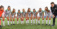 players of OHL pictured ahead of a female soccer game between Club Brugge Dames YLA and Oud Heverlee Leuven on the 8 th matchday of the 2020 - 2021 season of Belgian Scooore Womens Super League , saturday 21 th November 2020  in Knokke , Belgium . PHOTO SPORTPIX.BE | SPP | DAVID CATRY