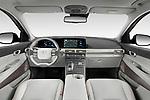Stock photo of straight dashboard view of 2019 Hyundai Nexo Limited 5 Door SUV Dashboard