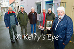 The Wall family standing in Blackpool Lane, Tralee where their uncle Tommy Wall was shot dead by the Black and Tans 100 years ago on November 2nd. Front right: Cllr Johnny Wall. Back l to r: Edward, Michael, Tom, Kathleen and Joe Wall.