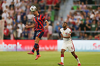 AUSTIN, TX - JULY 29: Sebastian Lletget #17 of the United States during a game between Qatar and USMNT at Q2 Stadium on July 29, 2021 in Austin, Texas.