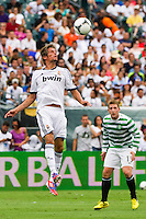 Fabio Coentrao (15) of Real Madrid. Real Madrid defeated Celtic F. C. 2-0 during a 2012 Herbalife World Football Challenge match at Lincoln Financial Field in Philadelphia, PA, on August 11, 2012.