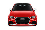 Car photography straight front view of a 2019 Audi RS-3 - 4 Door Sedan Front View