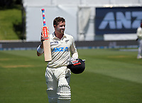 NZ's Henry Nicholls walks off after his innings of 174 during day two of the second International Test Cricket match between the New Zealand Black Caps and West Indies at the Basin Reserve in Wellington, New Zealand on Friday, 11 December 2020. Photo: Dave Lintott / lintottphoto.co.nz