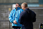 St Johnston Training….28.09.18<br />Manager Tommy Wright pictured during training this morning at McDiarmid Park ahead of tomorrow's game at Hearts<br />Picture by Graeme Hart.<br />Copyright Perthshire Picture Agency<br />Tel: 01738 623350  Mobile: 07990 594431