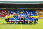 St Johnstone FC...First Team Squad 2013-14<br /> Back row from left, Scott Borwn, Tom Scobbie, Gareth Rodager, Rory Fallon, Steven Anderson, Steven MacLean, Brian Easton, Gary Miller and Gwion Edwards.<br /> Middle row from left, Jocky Peebles (U20 Assistant), Ewan Peacock (U20 Coach), Fearghal Kerin (Head Physio) George Browning (U20 Goalkeeping Coach), Murray Davidson, Chris Kane, Stevie Banks, Alan Mannus, Zander Clark, David Wotherspoon, Gary McDonald, Alec Cleland (First Team Coach), Graham Kirk (Sports Scientist), Alistair Stevenson (Youth Development Manager), Tommy Campbell (Kit Manager) and Alan Lochtie (Asst Physio).<br /> Front row from left, Liam Caddis, Paddy Cregg, Chirs Millar, Dave Mackay, Tommy Wright (Manager), Callum Davidson (Assistant Manager)m Frazer Wright, Nigel Hasselbaink, Stevie May and David Robertson.<br /> Picture by Graeme Hart.<br /> Copyright Perthshire Picture Agency<br /> Tel: 01738 623350  Mobile: 07990 594431