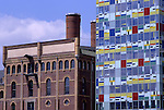 Europe, DEU, Germany, Northrhine Westphalia, Rhineland, Lower Rhine, Dusseldorf, Media Port, Speditionstrasse, Coloriumhouse, Fassade....[ For each utilisation of my images my General Terms and Conditions are mandatory. Usage only against use message and proof. Download of my General Terms and Conditions under http://www.image-box.com or ask for sending. A clearance before usage is necessary...Material is subject to royalties. Each utilisation of my images is subject to a fee in accordance to the present valid MFM-List...Contact | archive@image-box.com | www.image-box.com ]
