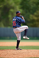 Atlanta Braves Oriel L Caicedo (35) during a minor league Spring Training game against the Detroit Tigers on March 25, 2017 at ESPN Wide World of Sports Complex in Orlando, Florida.  (Mike Janes/Four Seam Images)