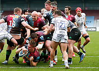 20th March 2021; Twickenham Stoop, London, England; English Premiership Rugby, Harlequins versus Gloucester; Harlequins, Gloucester; Huge push over try by Quins with Alex Dombrandt of Harlequins rolling over for his second try of the match
