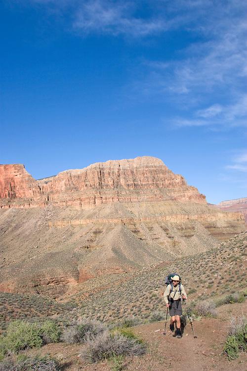 Arizona, Grand Canyon, Grand Canyon National Park, Tonto Trail, below the South Rim, Hermit - Bright Angel Loop Trail, Southwest, U.S.A., Gary Parker,
