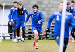 St Johnstone Training....24.02.21<br />Stevie May pictured during training at McDiarmid Park ahead of Sunday's BETFRED Cup Final against Livingston at Hampden Park.<br /><br />Picture by Graeme Hart.<br />Copyright Perthshire Picture Agency<br />Tel: 01738 623350  Mobile: 07990 594431