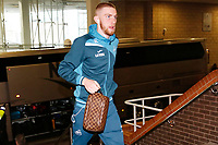 Oliver McBurnie of Swansea City arrives prior to the game during the Premier League match between Newcastle United and Swansea City at St James' Park, Newcastle, England, UK. Saturday 13 January 2018