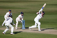 Rob Yates hits 4 runs for Warwickshire during Warwickshire CCC vs Essex CCC, LV Insurance County Championship Group 1 Cricket at Edgbaston Stadium on 25th April 2021