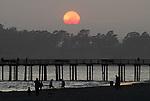 Seacliff Beach at sunset