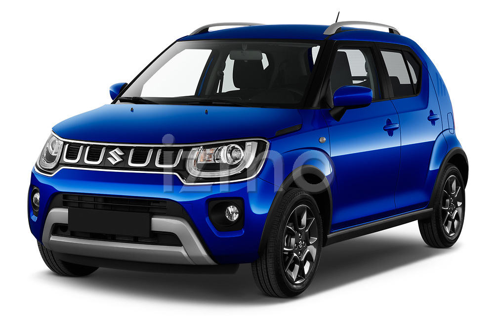 2020 Suzuki Ignis GL+ 5 Door Hatchback Angular Front automotive stock photos of front three quarter view