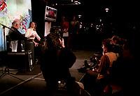 Celine Dion et Rene Angelil a Montreal, 28 Decembre 1996<br /> en conference de presse.<br /> <br /> PHOTO :  Agence Quebec presse