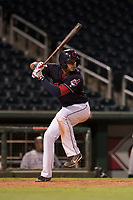 AZL Indians 1 right fielder Johnathan Rodriguez (30) at bat during an Arizona League game against the AZL White Sox at Goodyear Ballpark on June 20, 2018 in Goodyear, Arizona. AZL Indians 1 defeated AZL White Sox 8-7. (Zachary Lucy/Four Seam Images)