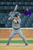 Kendall Keeton (3) of the Missouri Tigers at bat against the Wake Forest Demon Deacons at Wake Forest Baseball Park on February 22, 2014 in Winston-Salem, North Carolina.  The Demon Deacons defeated the Tigers 1-0.  (Brian Westerholt/Four Seam Images)