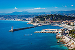 Frankreich, Provence-Alpes-Côte d'Azur, Nizza: im Vordergrund der Hafen Port Lympia | France, Provence-Alpes-Côte d'Azur, Nice: at foreground Port Lympia