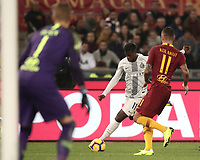 Football, Serie A: AS Roma - InterMilan, Olympic stadium, Rome, December 02, 2018. <br /> Inter's Keita Balde Diao (l) in action with Roma's Aleksandar Kolarov (r) during the Italian Serie A football match between Roma and Inter at Rome's Olympic stadium, on December 02, 2018.<br /> UPDATE IMAGES PRESS/Isabella Bonotto