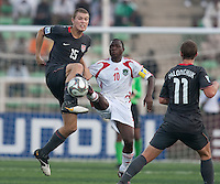 Eriq Zavaleta tries to kick the ball against Bruno Milanzi. US Men's National Team Under 17 defeated Malawi 1-0 in the second game of the FIFA 2009 Under-17 World Cup at Sani Abacha Stadium in Kano, Nigeria on October 29, 2009.
