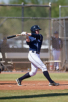 San Diego Padres outfielder Jack Suwinski (8) follows through on his swing during an Instructional League game against the Milwaukee Brewers on September 27, 2017 at Peoria Sports Complex in Peoria, Arizona. (Zachary Lucy/Four Seam Images)