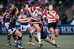 Makiko Tomita of Japan (c) competes against Hong Kong during the Womens Rugby World Cup 2017 Qualifier match between Hong Kong and Japan on December 17, 2016 in Hong Kong, Hong Kong. Photo by Marcio Rodrigo Machado / Power Sport Images