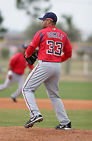Washington Nationals minor leaguer Warmar Gomez during Spring Training at the Carl Barger Training Complex on March 20, 2007 in Melbourne, Florida.  (Mike Janes/Four Seam Images)