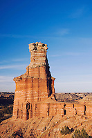 The Lighthouse at sunset, Palo Duro Canyon State Park, Canyon, Panhandle, Texas, USA