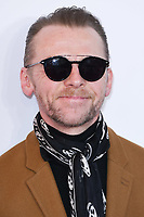 """Simon Pegg<br /> arriving for the premiere of """"The Kiid who would be King"""" at the Odeon Luxe cinema, Leicester Square, London<br /> <br /> ©Ash Knotek  D3476  03/02/2019"""