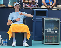 MIAMI GARDENS, FLORIDA - APRIL 04: (NO SALES TO NEW YORK POST) Hubert Hurkacz of Poland defeats Jannik Sinner of Italy during the men's singles final at the Miami Open at Hard Rock Stadium. on April 04, 2021 in Miami Gardens, Florida.<br /> <br /> <br /> People:  Jannik Sinner Credit: hoo-me / MediaPunch