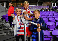 ORLANDO, FL - NOVEMBER 15: Supporters of the USA during a game between Canada and USMNT at Exploria Stadium on November 15, 2019 in Orlando, Florida.