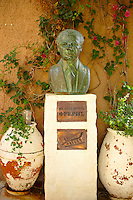 The bust of the writer Velissarios Freris, Ano Syros, Syros [ ????? ] , Greek Cyclades Islands