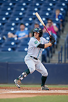 Daytona Tortugas left fielder TJ Friedl (6) at bat during a game against the Tampa Tarpons on April 18, 2018 at George M. Steinbrenner Field in Tampa, Florida.  Tampa defeated Daytona 12-0.  (Mike Janes/Four Seam Images)