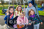 Amelie Rooney, Amy Stack, Indie, Harry and Freya Rooney enjoying the Tralee town park on Sunday.