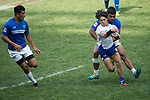 Samoa vs South Korea during their Pool A match as part of the HSBC Hong Kong Rugby Sevens 2017 on 08 April 2017 in Hong Kong Stadium, Hong Kong, China. Photo by Chris Wong / Power Sport Images