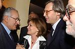"""GIUSEPPE GARGANI CON AUGUSTA IANNINI E VITTORIO SGARBI<br /> 75° COMPLEANNO DI LINO JANNUZZI - """"DA FORTUNATO AL PANTHEON"""" ROMA 2003"""