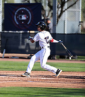 Fraymi De Leon participates in the MLB International Showcase at Salt River Fields on November 12-14, 2019 in Scottsdale, Arizona (Bill Mitchell)