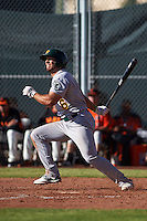 Oakland Athletics Brett Siddall (6) during an instructional league game against the San Francisco Giants on October 12, 2015 at the Giants Baseball Complex in Scottsdale, Arizona.  (Mike Janes/Four Seam Images)