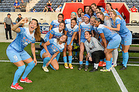 Chicago, IL - Saturday Sept. 24, 2016: Chicago Red Stars  prior to a regular season National Women's Soccer League (NWSL) match between the Chicago Red Stars and the Washington Spirit at Toyota Park.