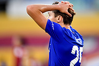 Federico Chiesa of ACF Fiorentina reacts during the Serie A football match between AS Roma and ACF Fiorentina at stadio Olimpico in Roma (Italy), July 26th, 2020. Play resumes behind closed doors following the outbreak of the coronavirus disease. <br /> Photo Antonietta Baldassarre / Insidefoto