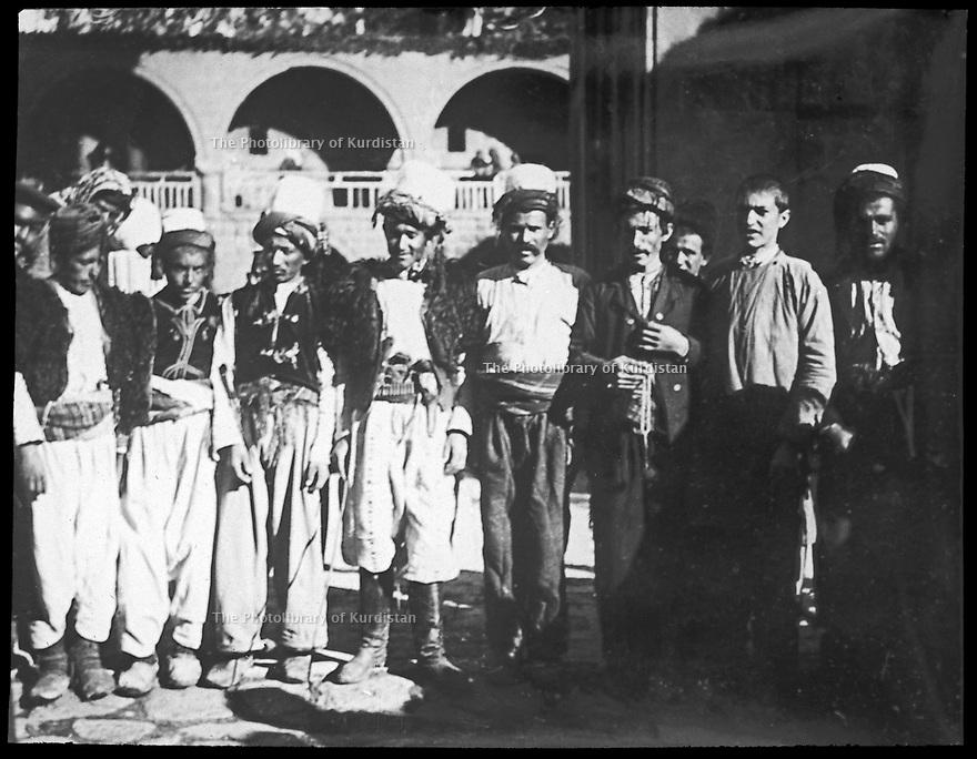 Ottoman Empire 1905 Kurds at the feast of the monastry of St. Garabed, near Mush, 4-17th century, fully destroyed by the Turks in 1915  Empire Ottoman 1905 Kurdes a la fete du monastere de St. Garabed, 4eme -17eme siecle. Le monastere a été totalement détruit par les Turcs en 1915.