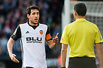 Daniel Parejo Munoz of Valencia CF talks to referee during the La Liga 2017-18 match between Valencia CF and Real Madrid at Estadio de Mestalla  on 27 January 2018 in Valencia, Spain. Photo by Maria Jose Segovia Carmona / Power Sport Images