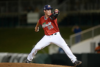 Fort Myers Miracle pitcher Alex Muren (24) delivers a pitch during a game against the Tampa Yankees on April 15, 2015 at Hammond Stadium in Fort Myers, Florida.  Tampa defeated Fort Myers 3-1 in eleven innings.  (Mike Janes/Four Seam Images)