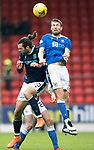 St Johnstone v Dundee…02.10.21  McDiarmid Park.    SPFL<br />David Wotherspoon and Cillian Sheridan<br />Picture by Graeme Hart.<br />Copyright Perthshire Picture Agency<br />Tel: 01738 623350  Mobile: 07990 594431