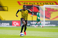 Ismaila Sarr (23) of Watford during the Sky Bet Championship match between Watford and Luton Town at Vicarage Road, Watford, England on 26 September 2020. Photo by David Horn.
